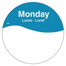 "DayMark 1101081 MoveMark Trilingual 3"" Monday Day Circle - 500 / RL"