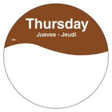 "DayMark 1101084 MoveMark Trilingual 3"" Thursday Day Circle - 500 / RL"