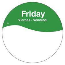 """DayMark 1101085 MoveMark Trilingual 3"""" Friday Day Circle - 500 / RL"""
