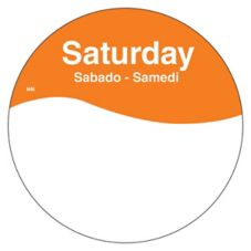 "DayMark 1101086 MoveMark Trilingual 3"" Saturday Day Circle - 500 / RL"