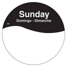 "DayMark 1101087 MoveMark Trilingual 3"" Sunday Day Circle - 500 / RL"