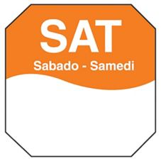 "DayMark MoveMark Trilingual Octagonal 1"" Saturday Day Label"