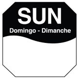 "DayMark MoveMark Trilingual Octagonal 1"" Sunday Day Label"