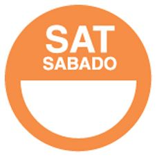 "DayDots 10112-06-21 2"" Orange Bilingual Saturday Label - 1000 / RL"