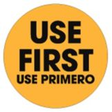 "DayDots 10605-01-21 1-1/2"" Bilingual USE FIRST Label - 500 / RL"