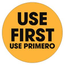 "SupeRemovable Bilingual Use First 1-1/2"" Label, Roll/500"