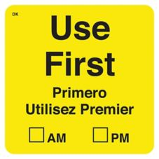 "DayMark 110068 DuraMark™ Square 2"" Use First Label - 500 / RL"