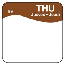 "DayMark 1101114 ReMark Bilingual 1"" Thursday Day Square - 1000 / RL"