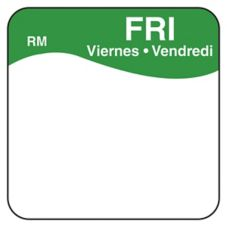 "DayMark ReMark™ Bilingual 1"" Friday Day Square"