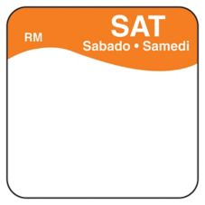 "DayMark ReMark™ Bilingual 1"" Saturday Day Square"