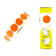 "Flourescent Label, Super-Removable, 3/4"" Orange"