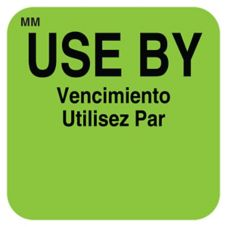 "DayMark MoveMark™ Square Green 1"" Use By Label"