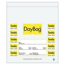 "DayMark 113014 5-1/2"" Day of the Week Tuesday Portion Bag - 2000 / BX"