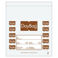 "DayMark 113016 5-1/2"" Day of the Week Thursday Portion Bag - 2000 / BX"