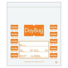 "DayMark 113018 5-1/2"" Day of the Week Saturday Portion Bag - 2000 / BX"
