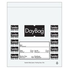 "DayMark 113019 5-1/2"" Day of the Week Sunday Portion Bag - 2000 / BX"