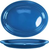 "International Tableware CAN-14-LB Light Blue 13.25"" Platter - 12 / CS"
