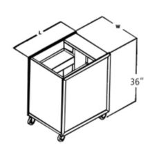 "APW Wyott MCTR-1622 Mobile Lowerator Dispenser for 16 x 22"" Trays"
