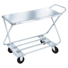 "Win-Holt® WX-1000/H Steel 17 x 40"" Stocking / Marketing Cart"