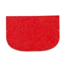 "Paderno 47621-05 Red Rounded 5-7/8"" Flexible Plastic Bowl Scraper"