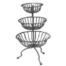 """Dover European Metalwork D-680AS Steel 26"""" Tall 3-Tier Marche Stand"""