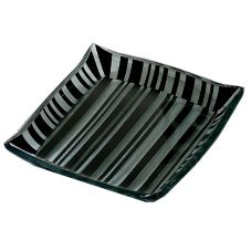 "Bon Chef 100115 Black Tie 10"" Square Glass Bowl"