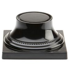 "Elite Global Solutions Venetian 3-3/4"" Black Pedestal Base"