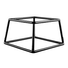 "Black Rubber Coated Steel Square Riser, 7"" x 6"" x 4""H"