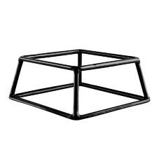"Black Rubber Coated Steel Square Riser, 7"" x 6"" x 3""H"