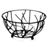 "Elite Global Solutions WB94 Black 9"" x 4"" Round Wire Basket"