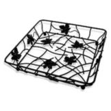 "Elite Global Solutions WB12122-B 12"" x 12"" Black Square Wire Basket"