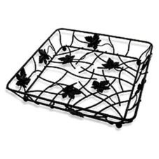 "Elite Global Solutions 12"" Black Square Wire Basket"