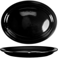 "International Tableware CAN-14-B Black 13-1/4 "" Platter - 12 / CS"