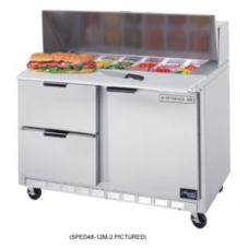 Beverage-Air SPED48-18M-2 Elite Refrigerated 2-Drawer Mega Top Counter