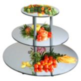 Gourmet Display® MT240 Acrylic 3-Tier Round Mirror Display