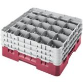 "Camrack 25S638416 Cranberry 6-7/8"" Glass Rack with 3 Extender - 3 / CS"