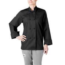 Chefwear® 4430-30 XLG Women's XL Black Three-Star Chef Jacket