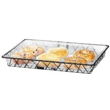 "Cal-Mil 1291TRAY Black 12"" x 18"" Wire Basket - 2 / CS"