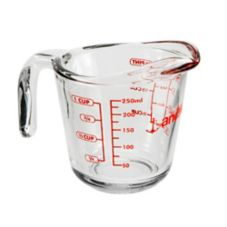 Anchor Hocking 55175OL11 Glass 8 oz Measuring Cup
