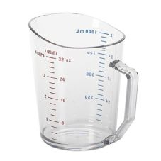 Cambro® 100MCCW135 Clear Camwear® 1 Qt Measuring Cup