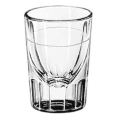 Libbey Fluted Lined 2 oz Whiskey Glass w/ 7/8 Oz. Cap Line