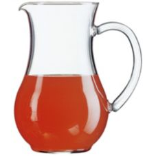 Cardinal 55239 Arcoroc Curved 44 oz Pitcher w/ Pour Lip - 6 / CS