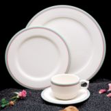 "Homer Laughlin 3881640 Seville® Simplicity Rose 9"" Plate - 24 / CS"