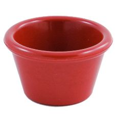 Gessner™ 0391 RED Melamine 1.5 Oz Smooth-Sided Ramekin - 72 / CS