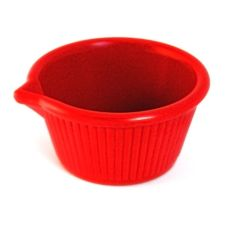 Gessner™ 0387A Red Melamine 3 Oz. Spouted Ramekin - 36 / CS