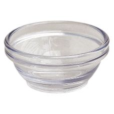 Gessner™ 1101CL Clear SAN Plastic 1.5 Oz. Stack Bowl - 72 / CS