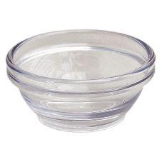 Gessner™ 1101CL Clear SAN Plastic 1.5 Oz. Stack Bowl - 72 / CS