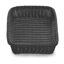TableCraft M2493 Ridal Collection Rectangular Black Hand-woven Basket