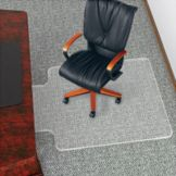 Beveled Studded UltraMat Chairmat w/ Lip, 45 x 53""