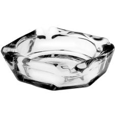 "Anchor Hocking 143U Anchor Square Glass 4"" Ashtray - 36 / CS"